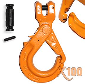 X100® Grade 100 Clevis Self-Locking Hook