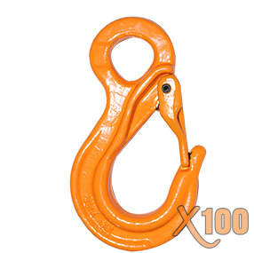 X100® Grade 100 Eye Sling Hook With Latch