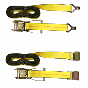 2″ Yellow Polyester Ratchet Tie-Downs
