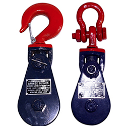 Snatch Block With Hook Or Shackle